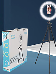 cheap -10 inch Photo Led Self Timer Ring Lamp 26 cm Dimmable Camera Telephone Ring Lamp With Tripod for Makeup Video Live Studio 3120 Camera Lamp Set