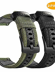 cheap -for samsung galaxy watch active 2 44mm bands, 2 pack premium nylon with leather watch strap compatible for galaxy active2 44mm and 40mm, black and army green