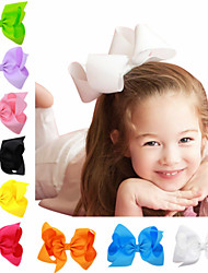 cheap -1pcs Kids / Toddler Girls' Basic Black / White / Blue Solid Colored Bow / Pure Color Spandex / Cotton Hair Accessories White / Black / Blue One-Size