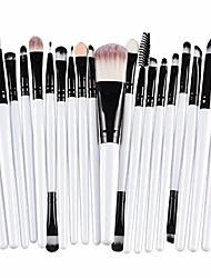 cheap -makeup brush set 20pcs professional makeup brushes premium synthetic foundation powder concealers eye shadows cosmetics set white
