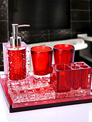 cheap -Bathroom Accessories Set 6 Piece Ceramic Complete Bathroom Set for Bath Decor Includes Toothbrush Holder Soap Dispenser Soap Dish Tray  2 Mouthwash Cup Holiday Bathroom Decoration Gift Idea
