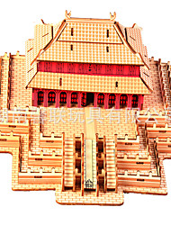 cheap -1 pcs Castle Display Model Wooden Puzzle Wooden Model Wood Kid's Adults' Toy Gift