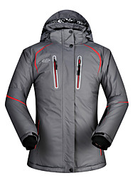 cheap -MUTUSNOW Women's Ski Jacket Skiing Camping / Hiking Snowboarding Waterproof Windproof Warm Polyester Winter Jacket Ski Wear / Solid Colored / Solid Color