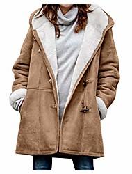 cheap -Women's Regular Dailywear Coats / Jackets Black Green Brown Gray S M L XL