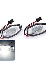 cheap -2Pcs 2W 12V 6500K Bright White 18 LED License Plate Light Lamp For Honda Civic City Legend Accord