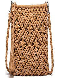 cheap -straw bags crossbody purses for women, tassel straw handbag vintage handwoven bag summer beach bag