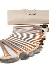 cheap -24 Pcs makeup brush set cosmetic brushes wooden poles champagne color cosmetic brushes beige cosmetic appliances