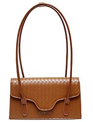 cheap -Women's Bags PU Leather Top Handle Bag Hobo Bag Zipper Daily Handbags Wine Black Brown Coffee
