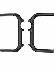 cheap -case cover for apple watch series 4, aluminum alloy protective cover hard frame shell 40mm 44mm for men women (black, 44 mm)