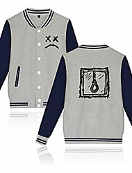 cheap -unisex lil peep baseball jacket cotton warm sweatshirt fashion button college autumn jacket