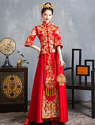 abordables -Mariée Adulte Femme Style Chinois Rétro Tenue Une robe de ligne Pour Soirée Polyester Broderie Halloween Carnaval Mascarade Costume