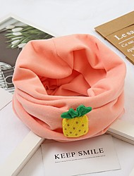 cheap -1pcs Toddler Unisex Active Fruit Cotton Scarves Blushing Pink / Khaki / Beige One-Size