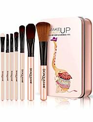 cheap -iumer 7pcs makeup brush set animal foundation eyebrow eyeliner blush cosmetic concealer brushes,elephant pink