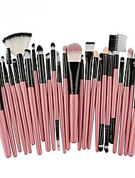 cheap -25pcs makeup brush kit premium makeup blusher toiletry set cosmetics foundation blending blush eye shadow brushes makeup brush set (pink)