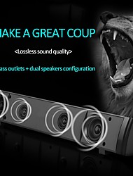 cheap -V-218 USB Wired Computer Speaker Bar Stereo Subwoofer Music Player Bass Surround Sound Box 3.5mm Audio Input for PC Laptop
