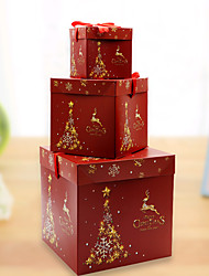 cheap -Christmas Toys Ornaments Christmas Gift Boxes Present Boxes Elk Christmas Tree Handmade Decoration Party Favors Paper 3 pcs Kid's Adults 10*10 15*15 20*20cm Christmas Party Favors Supplies