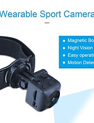 cheap -Camcorder Camera Wearable Sports Outdoor DV 1280*720 HD 6 Lights Night Vision Mini Surveillance Helmet Camera 2020 MD26 180mah