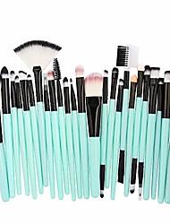 cheap -2020 newest discount 25pcs cosmetic makeup brush blusher eye shadow brushes set kit 2pcs pink lash shampoo clear plastic handle (gold yellow brush) winged flat gel pencil
