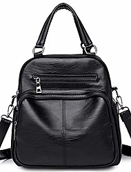 cheap -mini black leather backpack for women - satchel hobo top handle tote small shoulder purse with detachable straps
