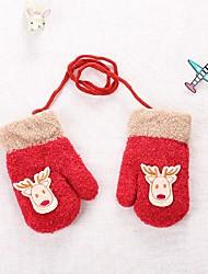cheap -2pcs Toddler Girls' Basic Blue / Red Cartoon Acrylic Gloves Blue / Red / Blushing Pink One-Size