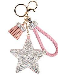 cheap -crystals tassel star women's keyrings & keychains-pink