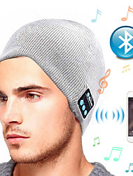 cheap -Knitted Winter Hat with Bluetooth USB Rechargeable Music Headphones Beanie