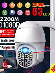 cheap -IP66 Wifi Security Camera AU White Auto Tracking/Two-Way Audio/Motion Detection Night Vision ONVIF/PTZ 63 Lights 1080p Rotate AP