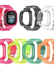 cheap -1 Pcs Watch Band MultiColor Smart Band Case For Fitbit Versa 3 / Sense Transparent Strap New Replacement Plastic Durable Scratch Proof Smart Bracelt