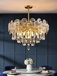 cheap -50 80 cm Chandelier Gold Crystal Flush Mount Lights Modern Metal Electroplated 110-120V 220-240V