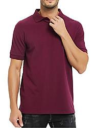 cheap -men's polo shirt short sleeve pique polo breathable golf tennis wine red l