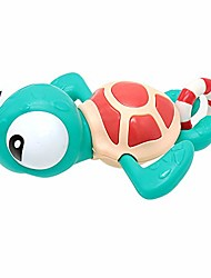 cheap -pull string baby bath toy pull & go turtle cute swimming turtle windup clockwork bathtub toy for toddlers (yellow)