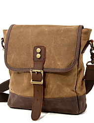 cheap -Men's Bags Canvas Crossbody Bag Beading Zipper Daily Outdoor Messenger Bag Army Green Khaki Dark Gray