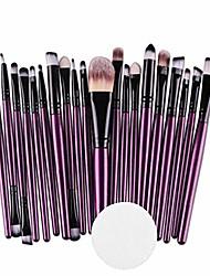 cheap -start_wuvi 20 pcs makeup brush set tools make-up wool kit 1pc make-up cotton,shipped from usa) (blue)