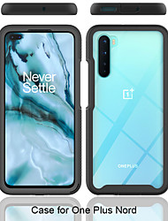 cheap -Case For OnePlus Oneplus 7 / Oneplus 7 pro / OnePlus 8 Shockproof Full Body Cases Solid Colored TPU / Acrylic / PC