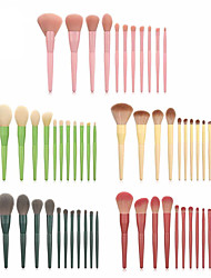 cheap -Bonnie 11 makeup brushes Makeup set Loose powder eye shadow brush Beauty tools Macaron Bonnie