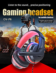 cheap -P6 Gaming Headset 3.5mm Headphone 3.5mm Microphone Stereo with Microphone for Gaming