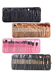 cheap -Factory direct sale 32 makeup brush set wooden handle with brush package makeup brush beauty tools foreign trade explosion wholesale