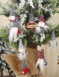 cheap -Christmas Decorations Knitted Small Pendants Faceless Doll Pendants Santa Claus Pendants