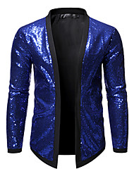 cheap -men's all over sequin jacket long sleeve varsity bling bling bomber metallic nightclub styles cardigan (purple l)