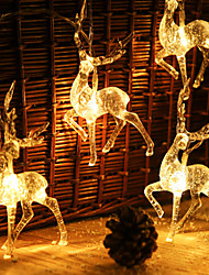 cheap -Christmas Decoration String Lights 2x1.5M 10LEDs Creative Reindeer Sika Deer Noel Fairy Lights Garden Holiday Decoration Lights Christmas Gift