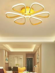 cheap -58 cm Led Ceiling Light Gold White Flower Shape Children's Room Nordic Style Simple Modern Art Lamp