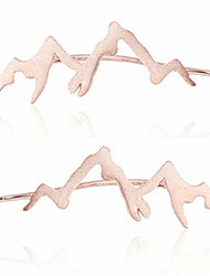 cheap -mountain peak crawler earrings silver mountains climbers wrap earring (rose gold)