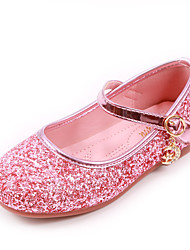 cheap -Girls' Flats Comfort Flower Girl Shoes Princess Shoes Faux Fur PU Little Kids(4-7ys) Daily Party & Evening Walking Shoes Bowknot Pearl Pink Silver Fall Spring