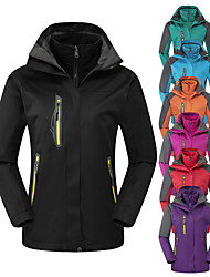 cheap -Women's Hoodie Jacket Hiking Jacket Hiking 3-in-1 Jackets Winter Outdoor Thermal Warm Waterproof Windproof Fleece Lining 3-in-1 Jacket Winter Jacket Top Full Length Visible Zipper Skiing Camping