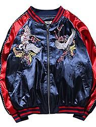 cheap -men's ma-1 air force crane embroidery lightweight baseball bomber jacket red xl