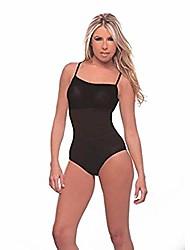 cheap -tank top bodysuit thong style shapewear with spaghetti straps (m, black)