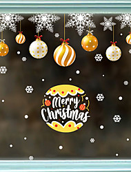 cheap -Static Glass Window Decoration Christmas Hanging Ball Christmas Snowflake Festival Window Background Decoration Wall Stickers 60*90CM