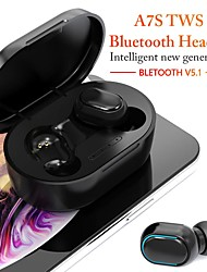 cheap -A7S Wireless Earbuds TWS Headphones Bluetooth5.0 Stereo with Microphone with Volume Control with Charging Box Auto Pairing for Mobile Phone