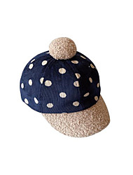 cheap -1pcs Toddler Unisex Active Blue Polka Dot Knitted Acrylic Hats & Caps Blue / Gray One-Size