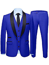 cheap -formal suits for men slim fit tuxedo for wedding attire dress suit one button blazer for prom 46 short royal blue